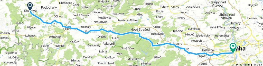 7. Nepomysl - Praha 95 km