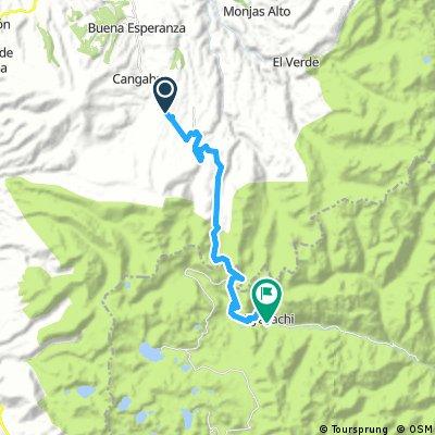 Cerca de Cangahua hastaOyacachi - 30 Km