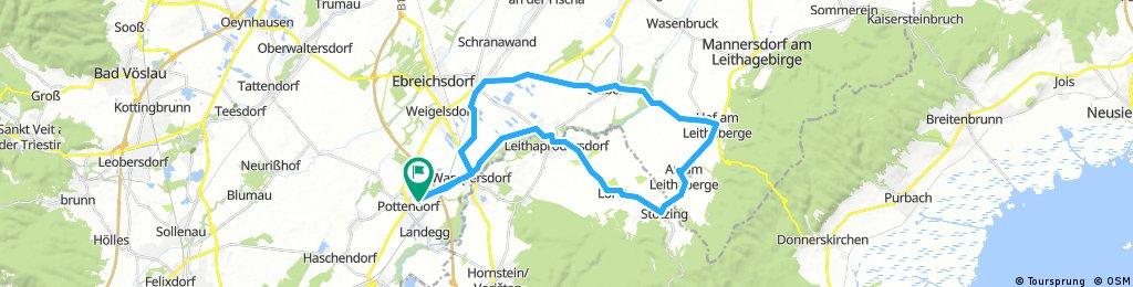 Lange Ausfahrt durch Pottendorf