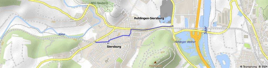 Zufahrt zur Kontrollstelle in Siersburg