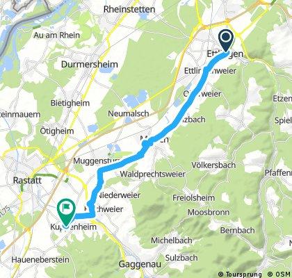 Radrunde von Ettlingen nach Kuppenheim
