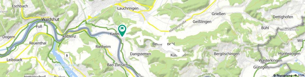 Ausfahrt durch Küssaberg