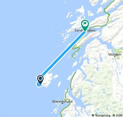 ride from Vega to Sandnessjøen