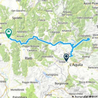 L'aquila-Fano Adriano-Lago Campotosto-Posta-Leonessa-Morro Reatino - Terni