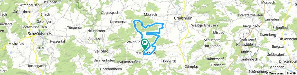 Ausfahrt durch Frankenhardt