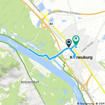 Quick evening ride to the Danube and back