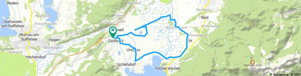 Radtour Großweil - Kochelsee