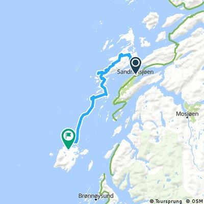 Lengthy bike tour from Sandnessjøen to Vega