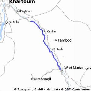 Cycling Routes And Bike Maps In And Around Wad Madani Bikemap - Wad madani map
