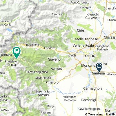 Santena-Pourrieres via Colle delle Finestre