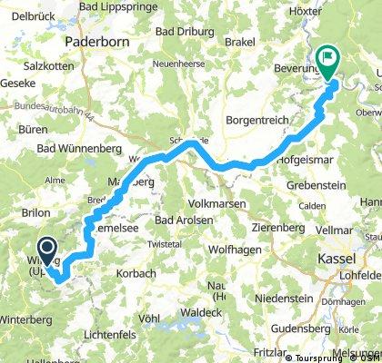 Diemelradtour Usseln- Bad Karlshafen