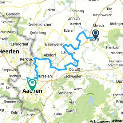 Wasserburgen-Route: Etappe 4 Jülich- Aachen
