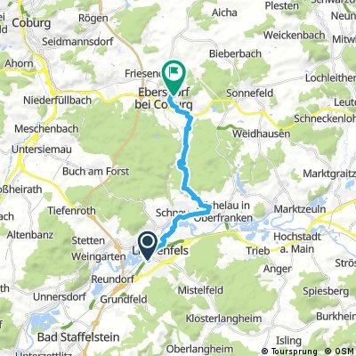 Radtour Lichtenfels-Ebersdorf