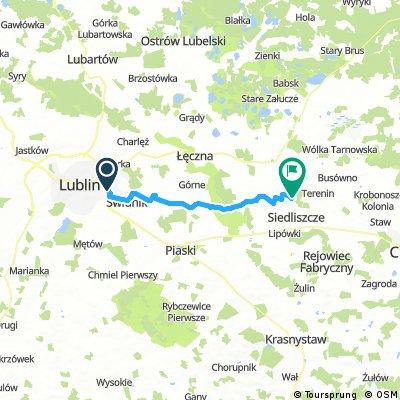 Lengthy bike tour from Lublin to Siedliszcze