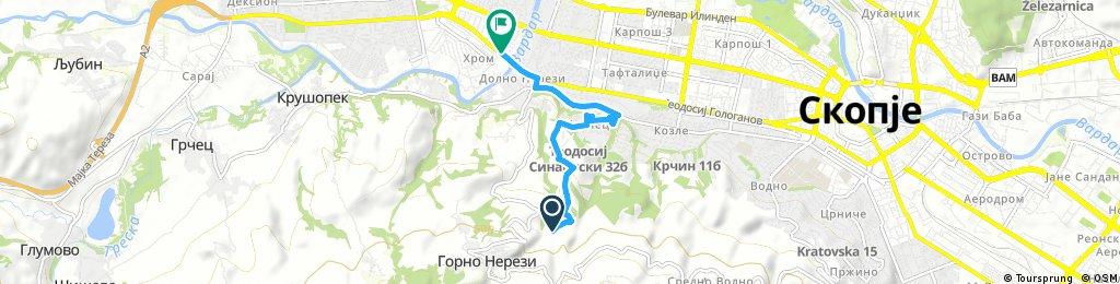 Short ride from Gorno Nerezi to Skopje