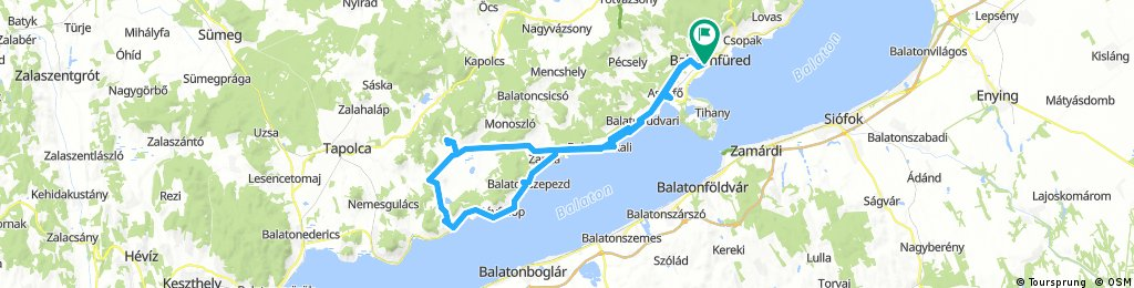 Lengthy bike tour through Balatonfüred