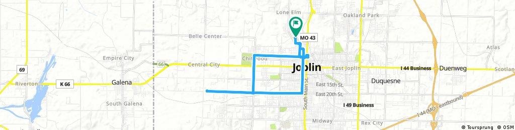 bike tour through Joplin