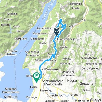 Lengthy ride from Pastviny to Bardolino
