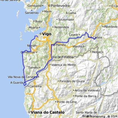 Vigo-Ballona-La Guardia-Tui-Guillade