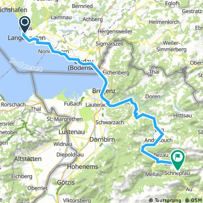 Alpenüberquerung Tag 1