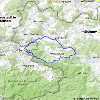 Sebnitz - Pirsken - Groß Schönau - Sebnitz