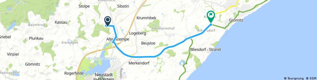Radrunde von Altenkrempe nach Grömitz
