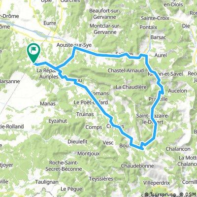 La Roche-Sur-Grane nach Saint-Nazaire-le-Désert
