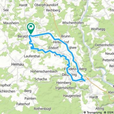 Beratzhausen - Nittendorf - Laaber - Beratzhausen