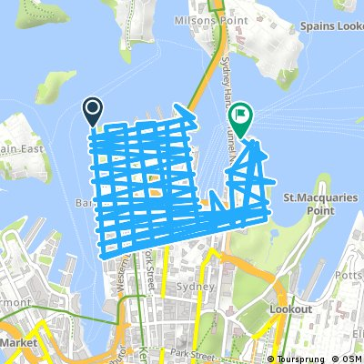 Cycling routes and bike maps in and around Balmain East