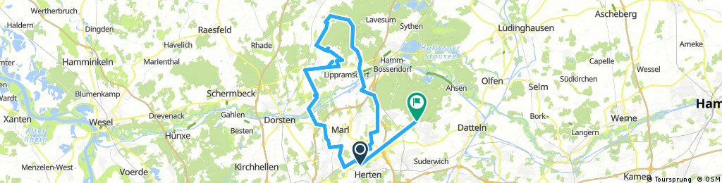 Lange Radrunde von Herten nach Oer-Erkenschwick