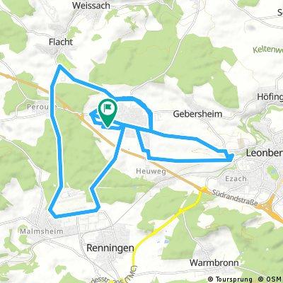 Rund um Rutesheim - Feierabendtour