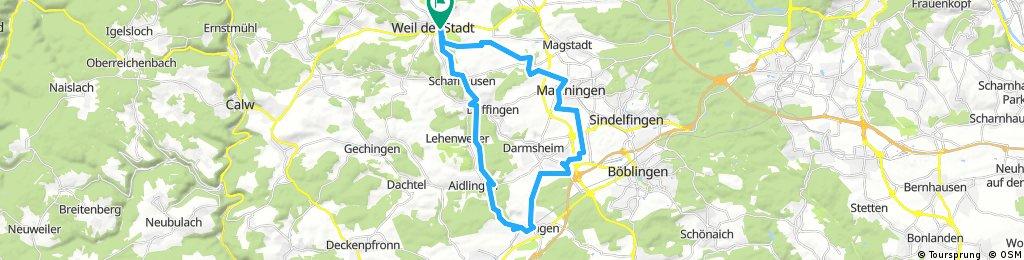 Weil der Stadt - Aidlingen - Ehningen - Dagersheim - Maichingen - Weil der Stadt