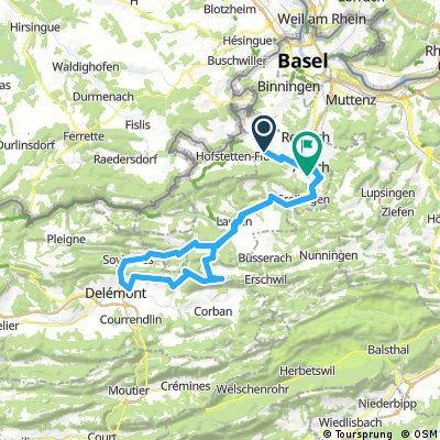 Lange Ausfahrt von Ettingen nach Pfeffingen