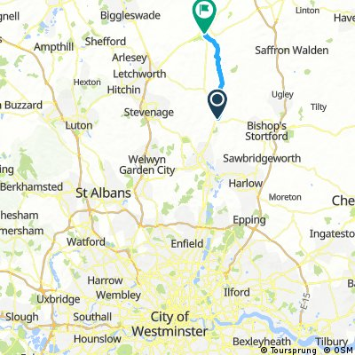 London to Royston via Potters Bar