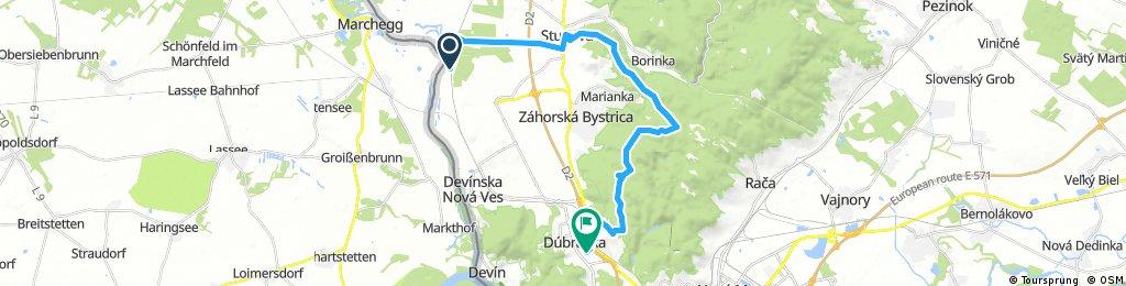 bike tour through District of Bratislava IV