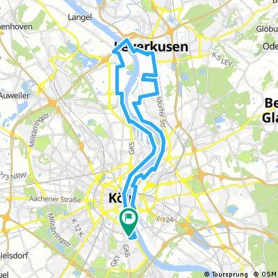 Köln am Rhein und Deutz