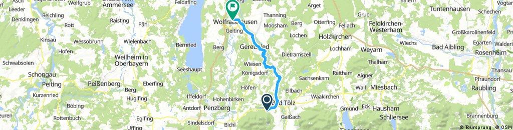 Blomberg nach Wolfratshausen
