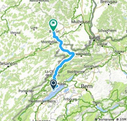 la vrai route des 140 km