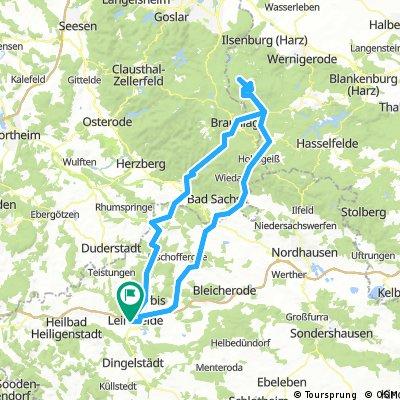 Leinefelde - Brocken und zurück