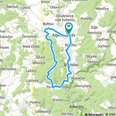 Rajec - Cierna Hora - Sebrov - Blansko Rajec