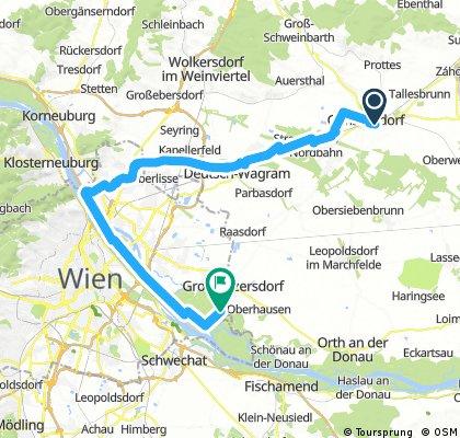 Gänserndorf-Marchfeldkanal-Donauinsel-Großenzersdorf