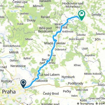 Jizera, Labe 2016 1. Praha-Sedmihorky-96 km, 490 vms-480 vmk