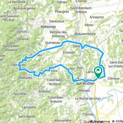 Long bike tour through Mercurol