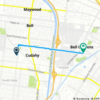 Quick ride from South Gate to Bell Gardens