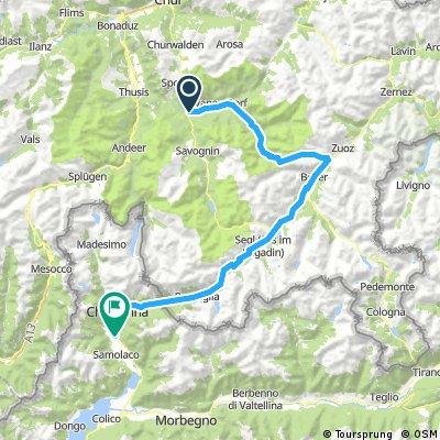 Tiefencastel - Chiavenna via Albula