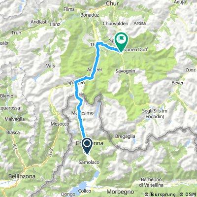 Chiavenna - Splügen - Via Mala - Tiefencastel