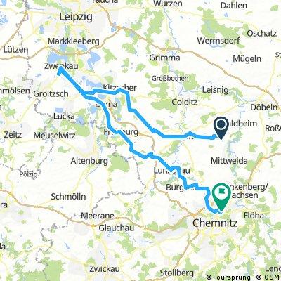 Schweikershain - Zwenkau - Borna - Chemnitz