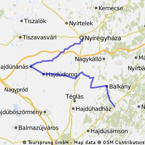 Nyiregyháza-Hajdunánás-Nyiradony (3/1 etap)