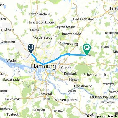 Lange Radrunde von Hamburg nach Trittau