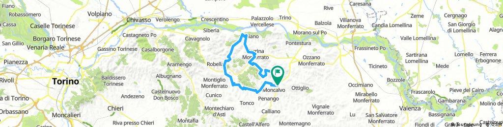 Moncalvo-Murisengo-Gabiano-Ponzano-Musirengo